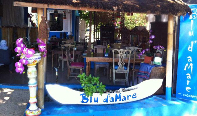 blu de mare where to eat gili trawangan