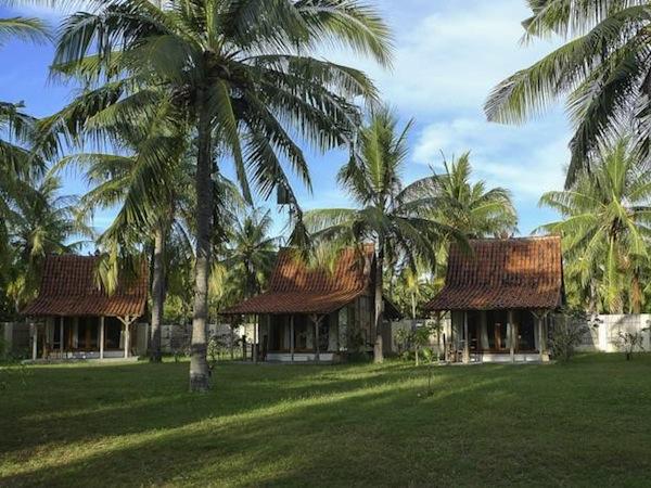 coconut bungalows gili trawangan accommodation