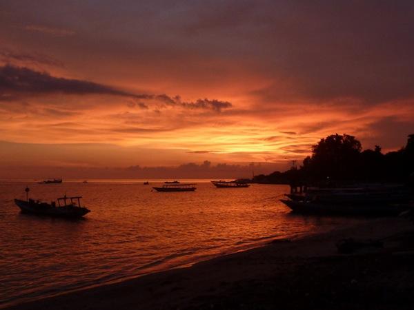 gili islands sunsets